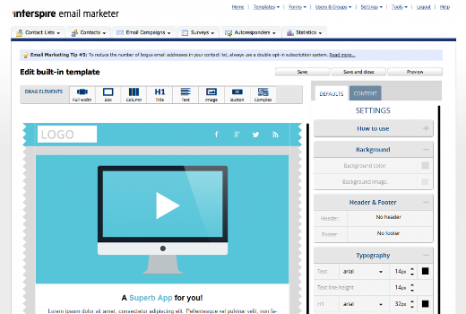 Responsive Email Editor Addon for Interspire Email Marketer Launched!