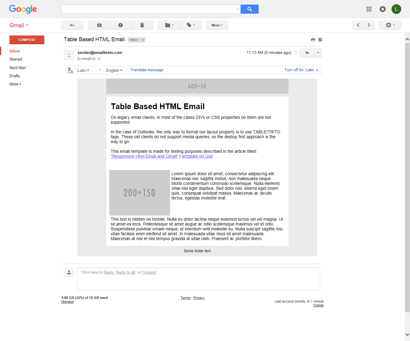 Gmail on Chrome