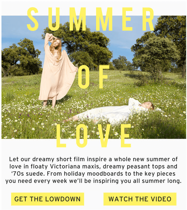 email template summer of love