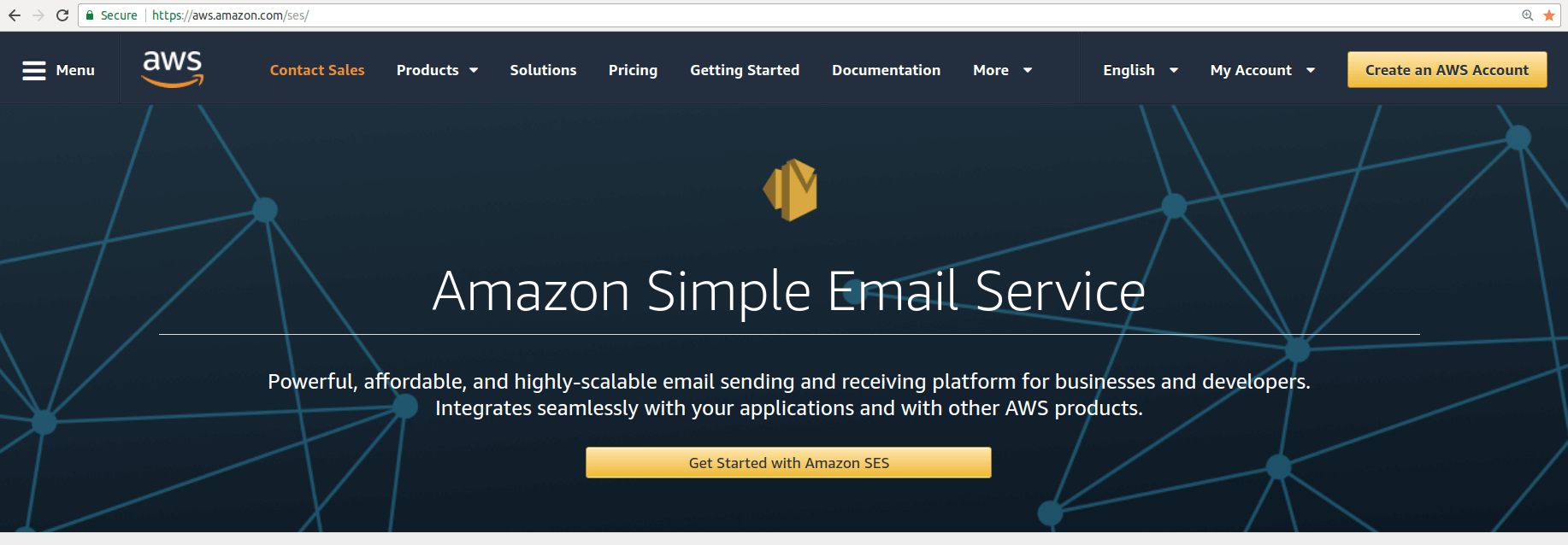 Amazon SES registration